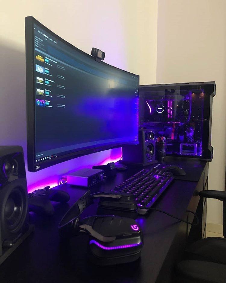 022 - Personalizado con setup negro y violeta