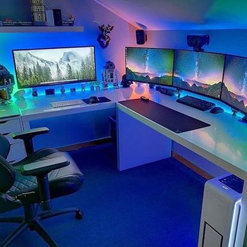 fondo de habitacion de streamers y youtubers